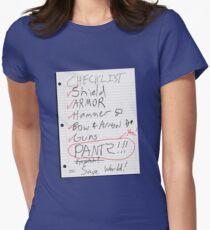 Alien Invasion Checklist Women's Fitted T-Shirt