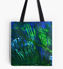 Beautiful Blue Palm Tote Bag