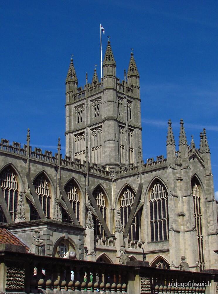 Blue Skies Over Bath Abbey by wiggyofipswich