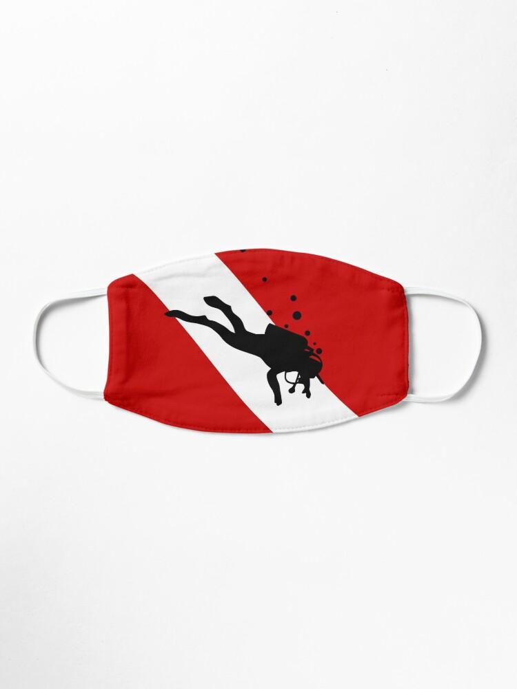 Alternate view of Scuba Dive Flag Bubble Red White Mask