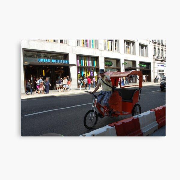 London - cycle rickshaw Canvas Print