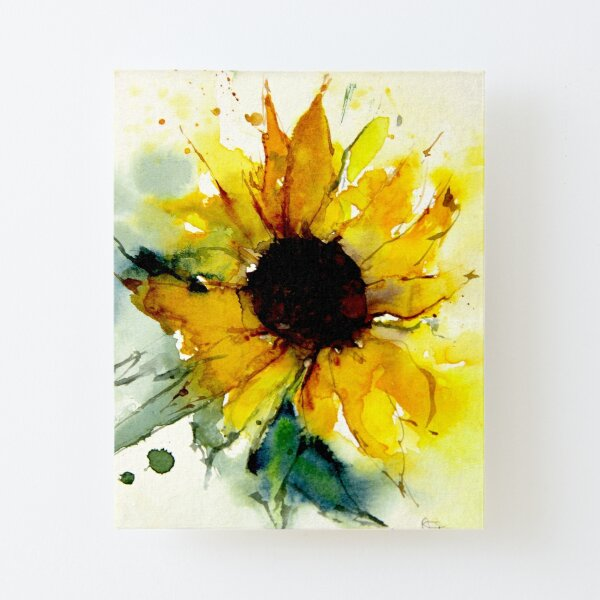 sunflower Canvas Mounted Print
