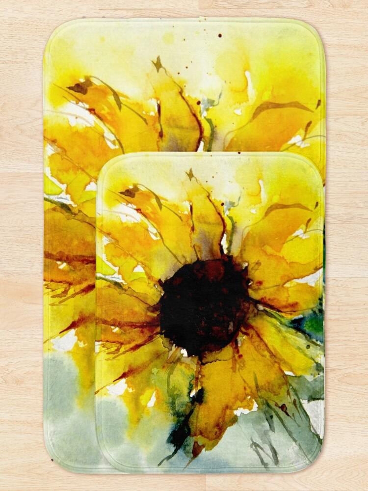 Alternate view of sunflower Bath Mat