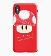 super mushroom -scribble- iPhone Case/Skin