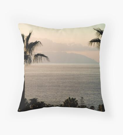 Sunset over Los Gigantes and La Gomera Throw Pillow