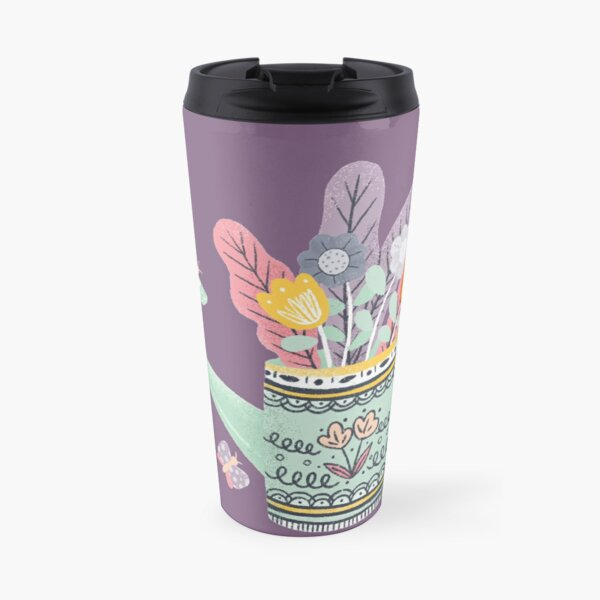 Cute Purple Chick Travel Mug