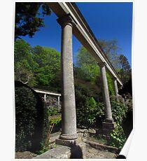 Italian Columns, Iford Manor Gardens Poster