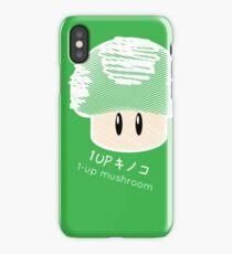1-UP mushroom -scribble- iPhone Case/Skin