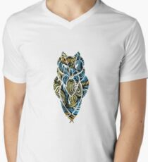 Owl Mosaic Blue / Yellow T-Shirt