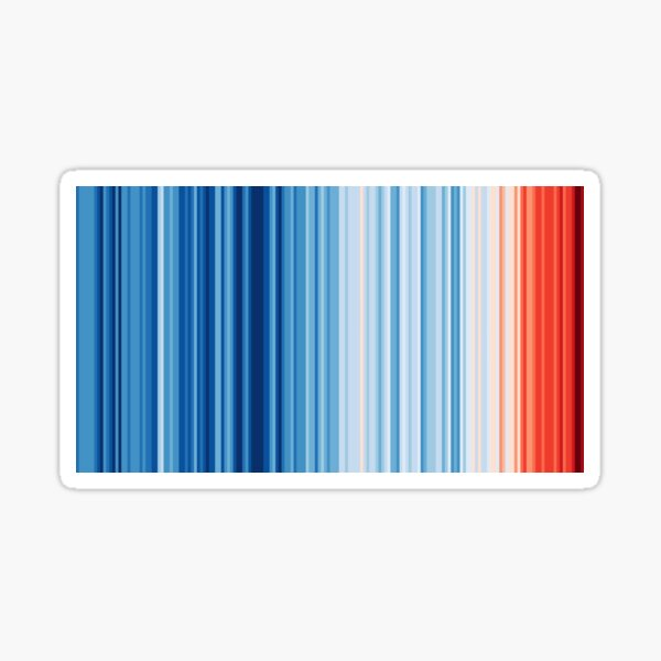 Warming Stripes Showing Global Climate Change #showyourstripes Sticker