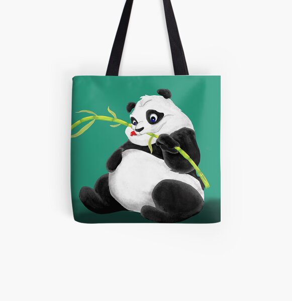 Panda Sitting On A Tree Handbag Purse Tote Shopper Shoulder Bag