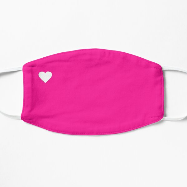 White and Bright Pink Heart Cute Mask Mask