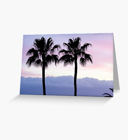 Sunset over Los Gigantes Greeting Card
