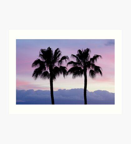 Purple sunset in Los Gigantes Art Print