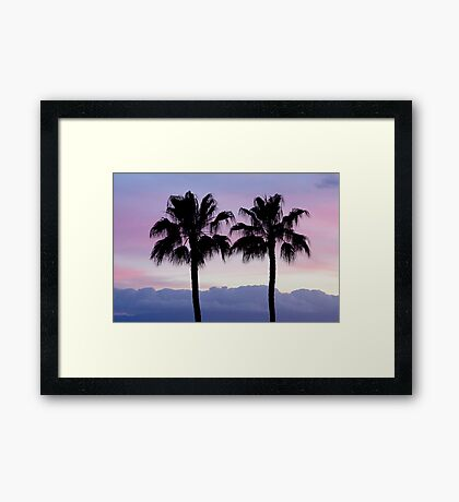 Purple sunset in Los Gigantes Framed Print