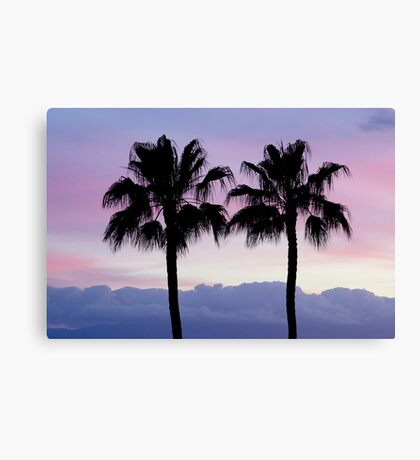 Purple sunset in Los Gigantes Canvas Print