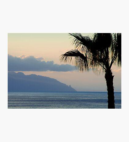 Sunset over Los Gigantes and La Gomera Photographic Print