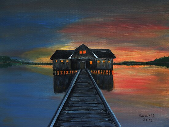 Old boathouse  by maggie326