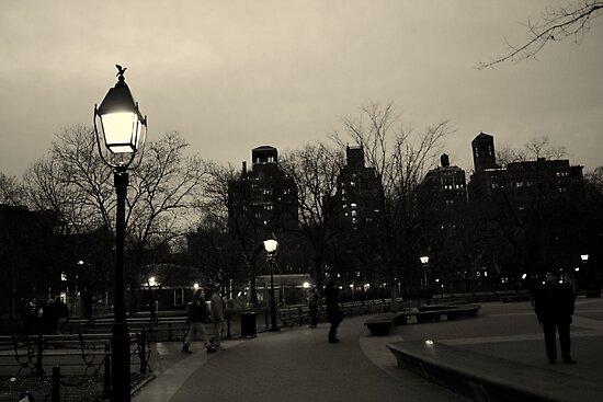 Washington Square Park at Night by Amanda Vontobel Photography/Random Fandom Stuff