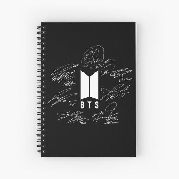 BTS - Logotipo con nuevas firmas 2020 (negro) Cuaderno de espiral