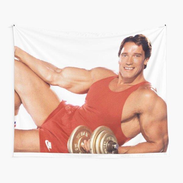 Arnold Schwarzenegger Lying pose Tapestry