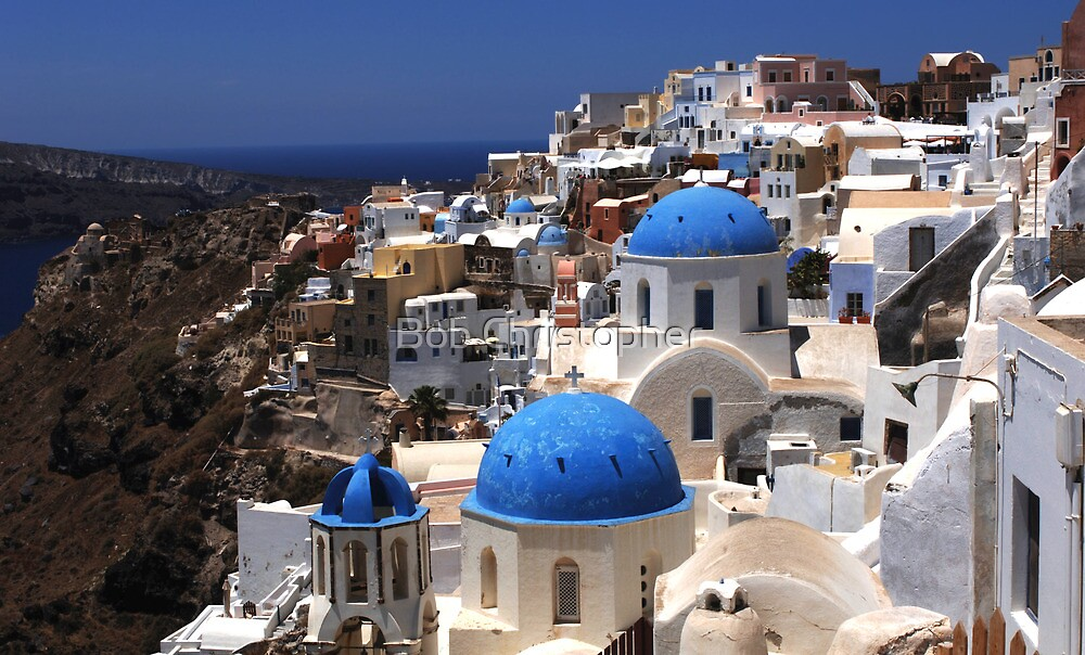 Santorini On the Edge by Bob Christopher
