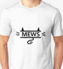 mews - black on white Unisex T-Shirt