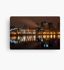 Night Time River Of St.Paul Canvas Print