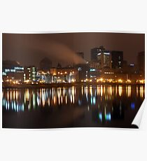 Night Time River Of St.Paul Poster