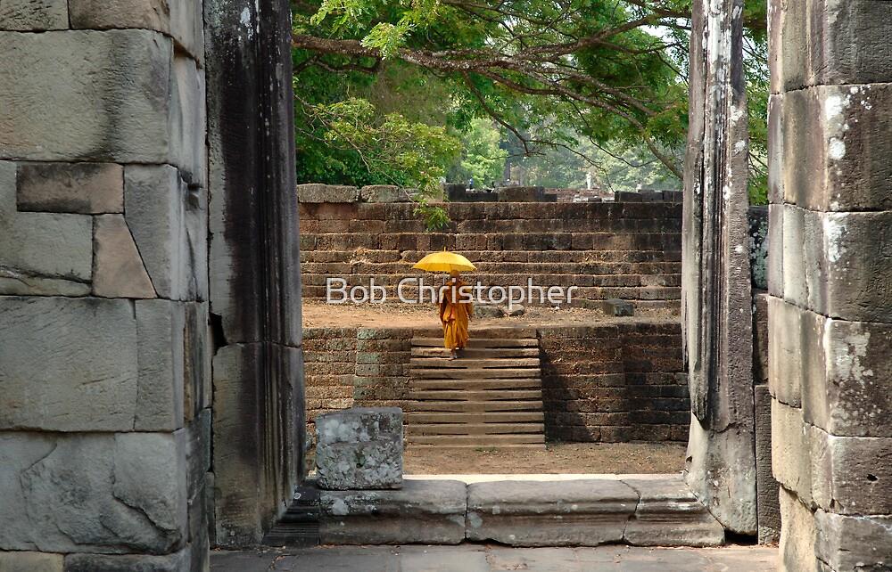 Peace At Angkor Wat  Cambodia by Bob Christopher