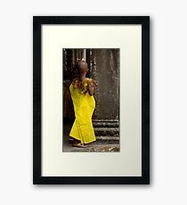 Young Person Angkor Wat Cambodia Framed Print