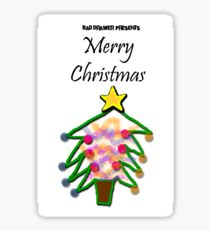 Bad Drawer Presents Merry Christmas Sticker