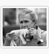 George Bush Eats Kittens Sticker