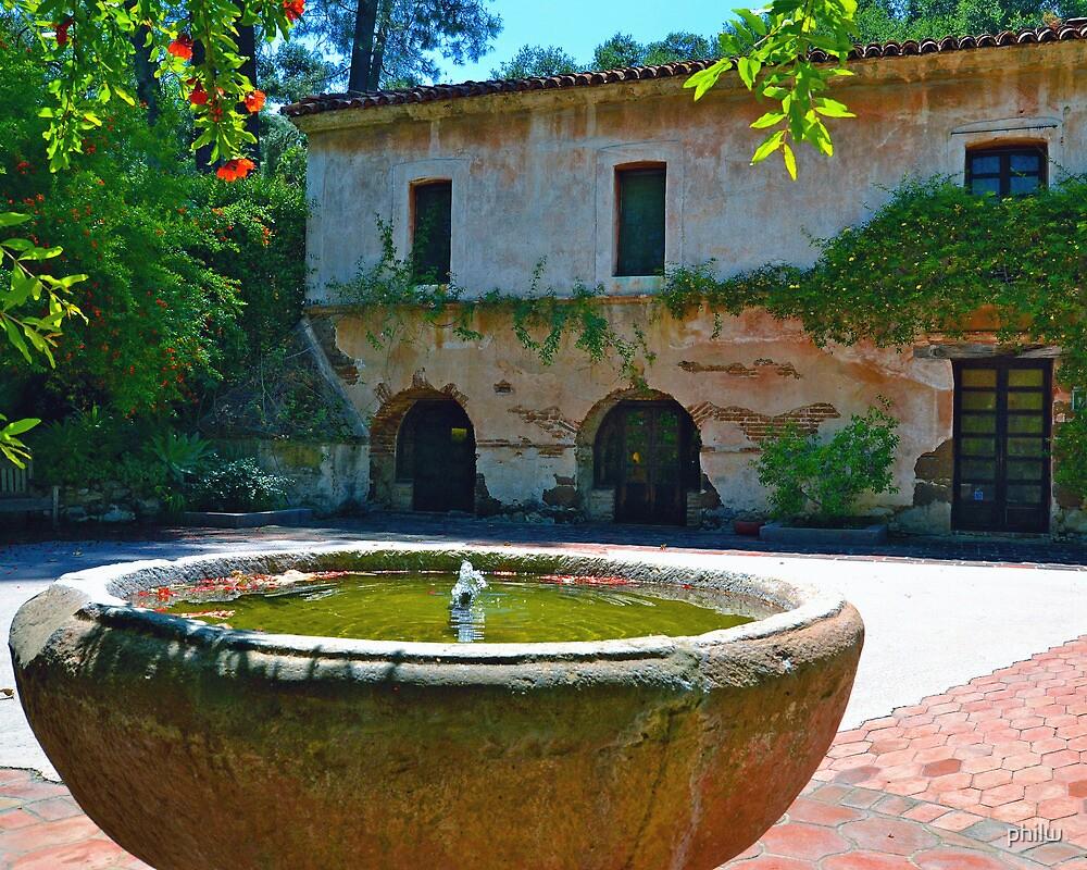 Court Yard Fountain at El Molino Viejo by philw