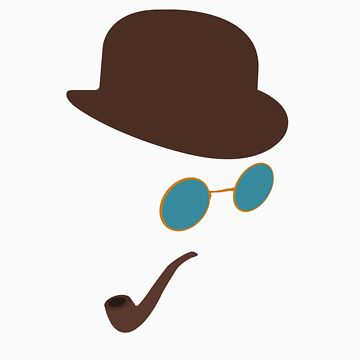 Sherlock Holmes Hat, Smoking Pipe and Sunglasses by aditmawar