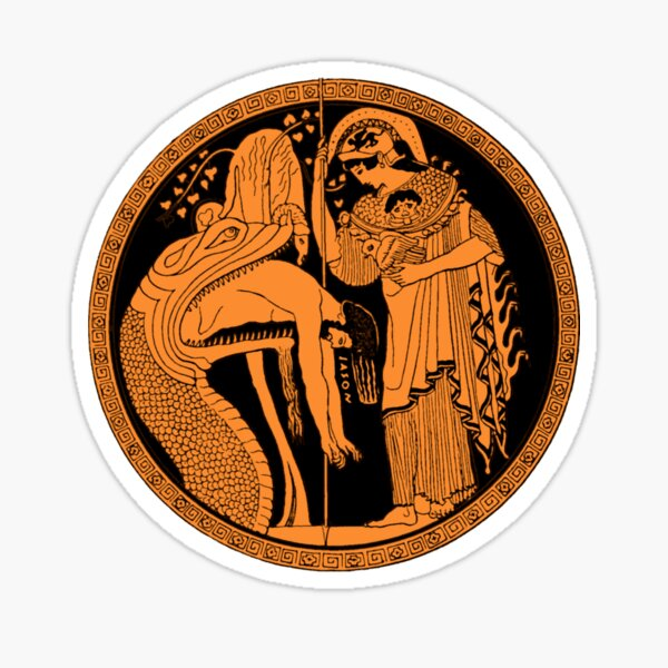 Athena and Jason and the Golden Fleece Sticker