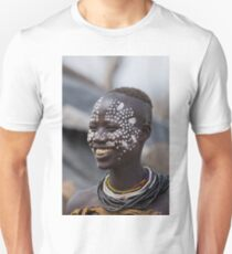 Karo tribe female with painted face. Omo Valley, Ethiopia T-Shirt