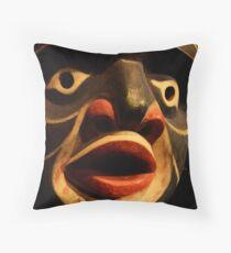 Haida Mask 3 Throw Pillow