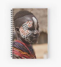 Karo tribe female with painted face. Omo Valley, Ethiopia Spiral Notebook
