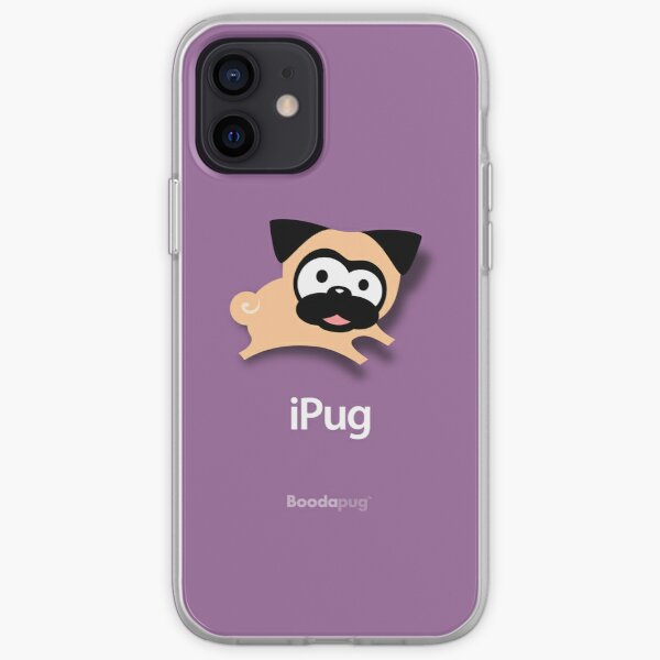 Tugg the Pug iPhone and iPod Cases (Purple) iPhone Soft Case
