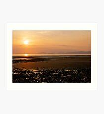 Sunset- Allonby Beach Art Print