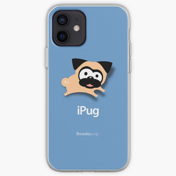 Tugg the Pug iPhone and iPod Cases (Blue) iPhone Soft Case