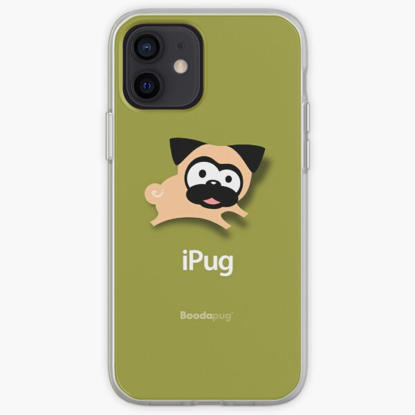 Tugg the Pug iPhone and iPod Case (Green) iPhone Soft Case