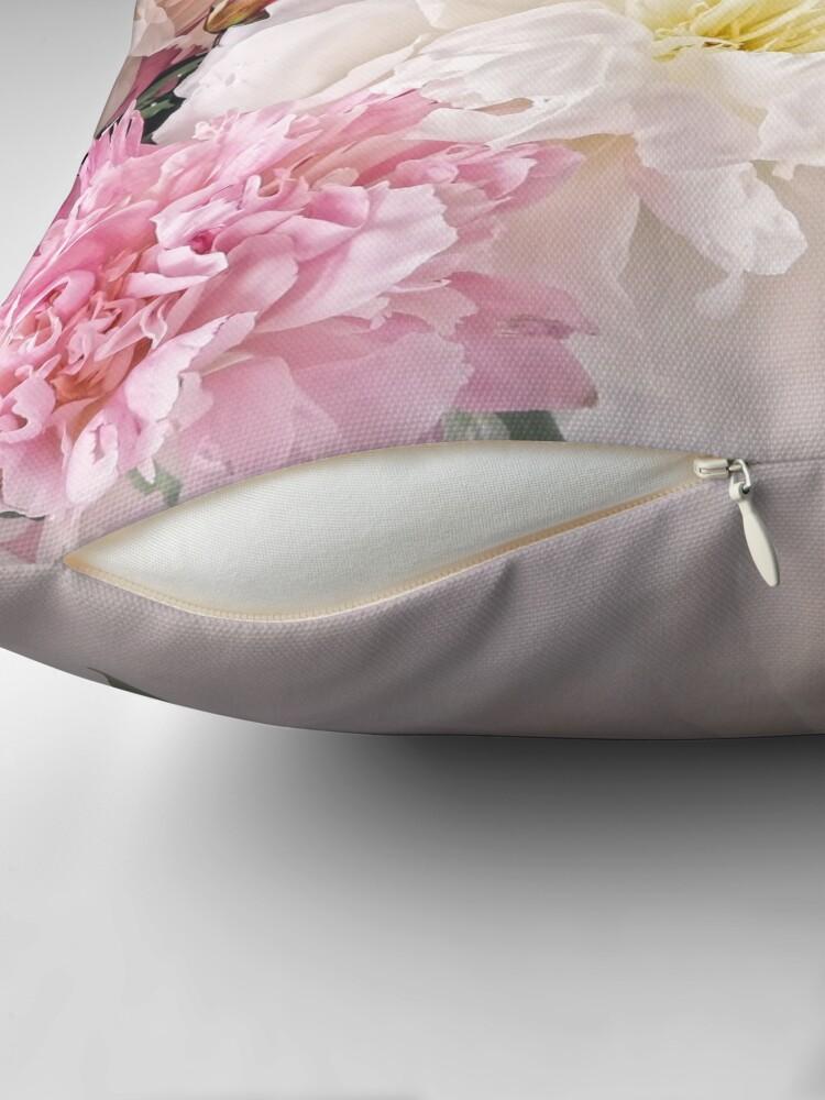 Alternate view of Peonies Throw Pillow