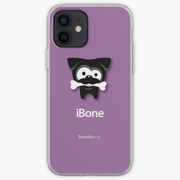 Black Pug iBone iPhone and iPod Cases (Purple) iPhone Soft Case