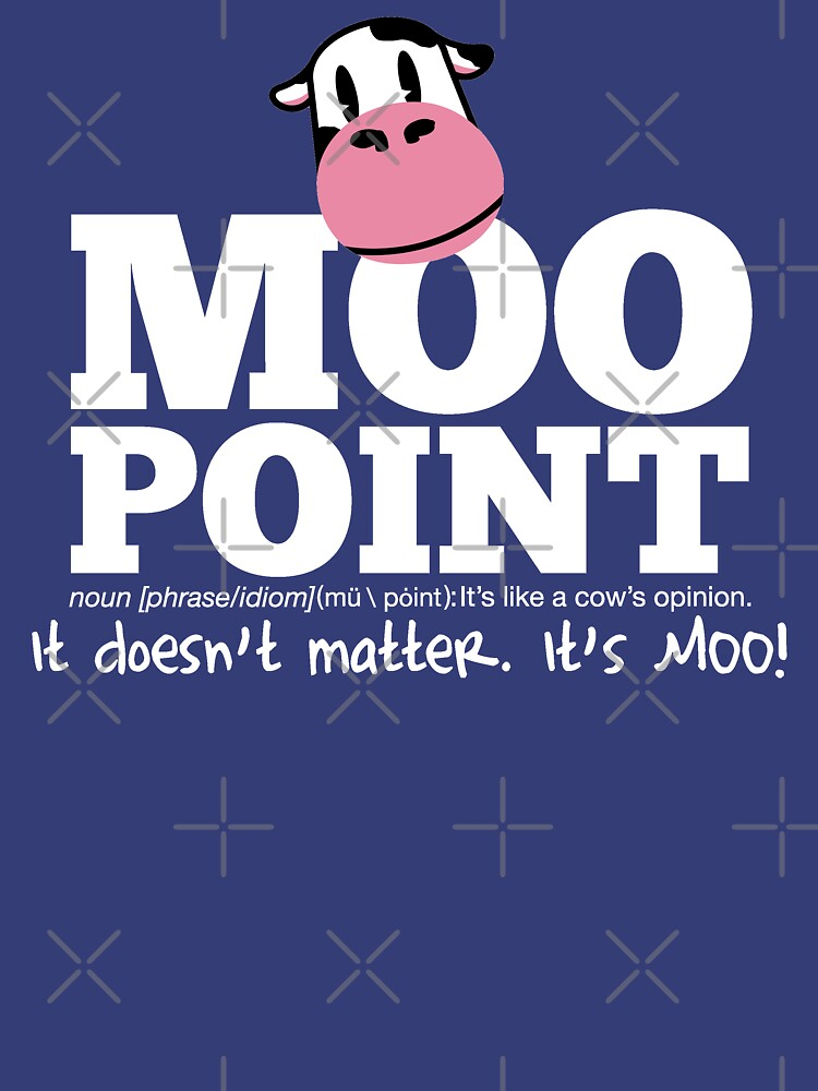 TShirtGifter presents: A Moo Point | Unisex T-Shirt