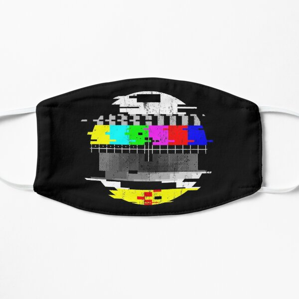 Vintage Glitched TV Test Pattern Graphic Mask