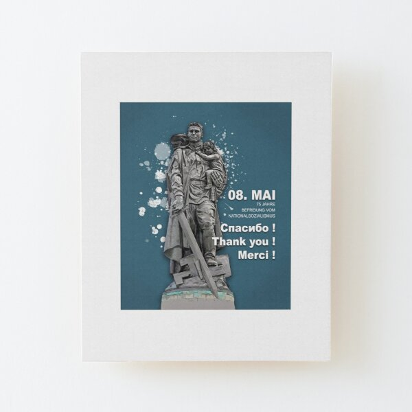 75 years of liberation from National Socialism _ Thank you! Wood Mounted Print