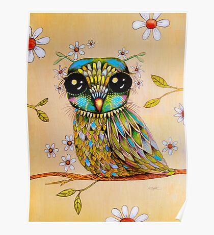 the peridot owl Poster