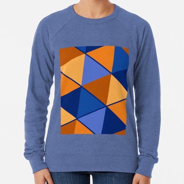 Triangles Blue Orange Mix Lightweight Sweatshirt